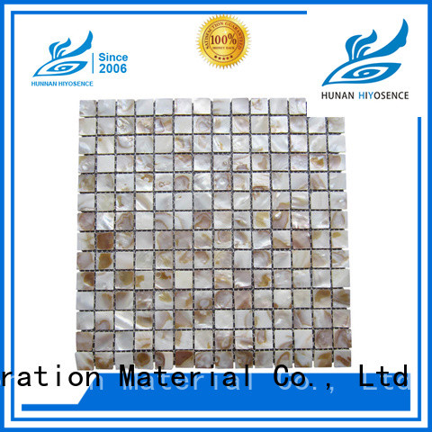 HIYOSENCE pearl shell tile marketing for hotel