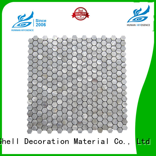 HIYOSENCE luxury mother of pearl floor tile factory price for toilet