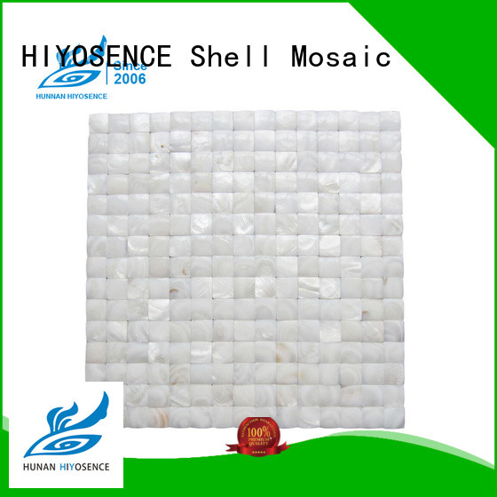 HIYOSENCE natural mother of pearl mosaic bathroom tiles factory price for hotel