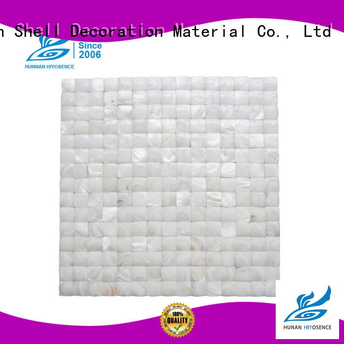 HIYOSENCE mother of pearl penny tile factory price