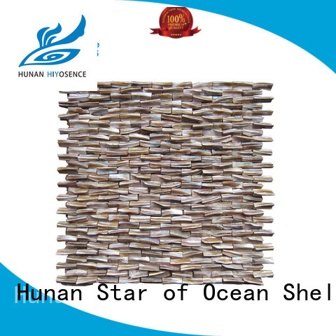HIYOSENCE stable quality mother of pearl mosaic bathroom tiles factory price