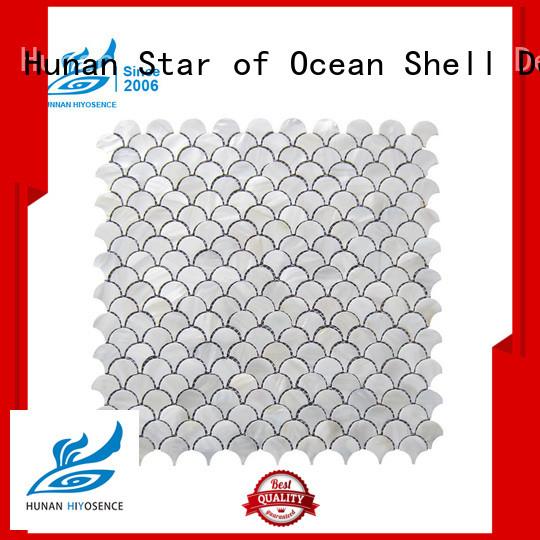 HIYOSENCE mother of pearl herringbone tile overseas market for toilet
