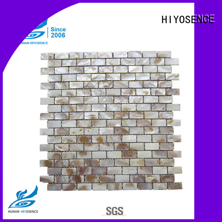 HIYOSENCE fashion design mother of pearl herringbone tile factory price for hotel