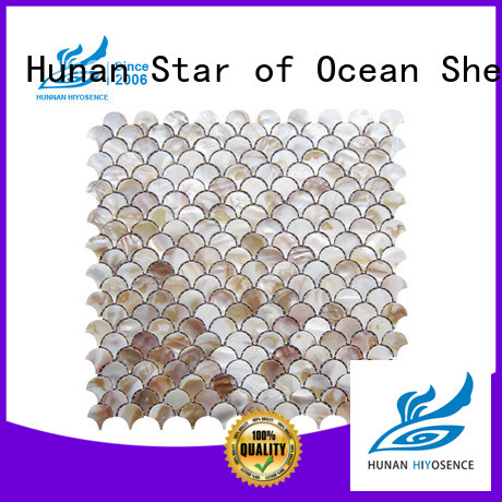 HIYOSENCE widely used shell mosaic tile factory price for toilet