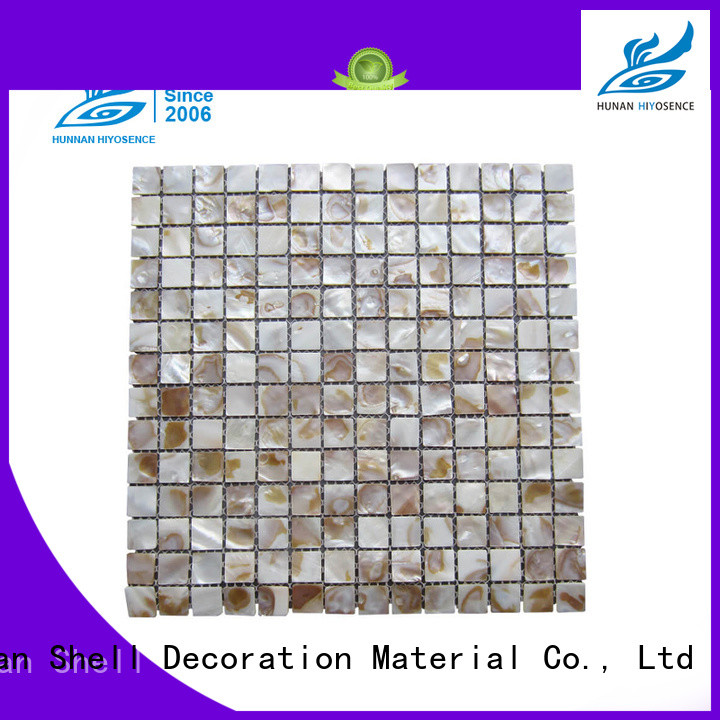 Diamond shell mosaic tile