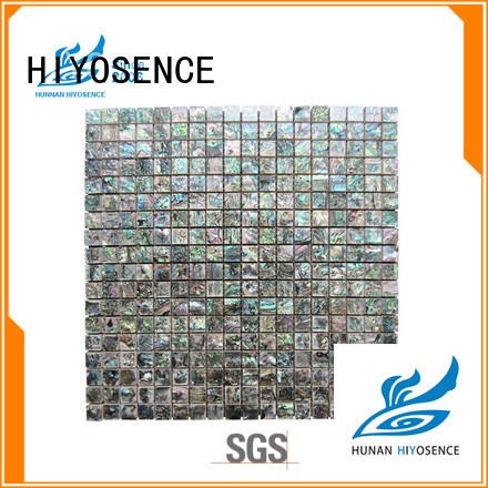 HIYOSENCE affordable price concrete mosaic tile factory price for living room