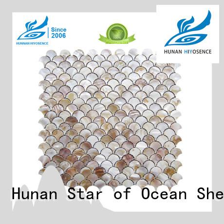 HIYOSENCE inexpensive white mosaic tile with good price for toilet