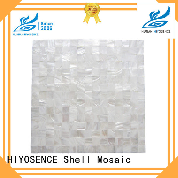 HIYOSENCE rhombus mother of pearl tiles marketing for swimming pool