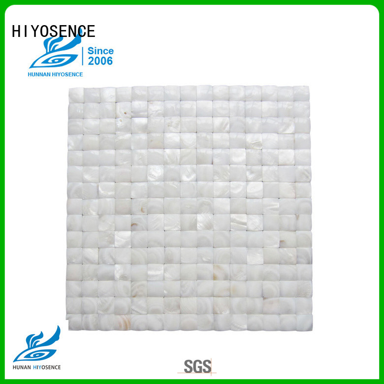 HIYOSENCE inexpensive white pearl shell tile marketing for living room