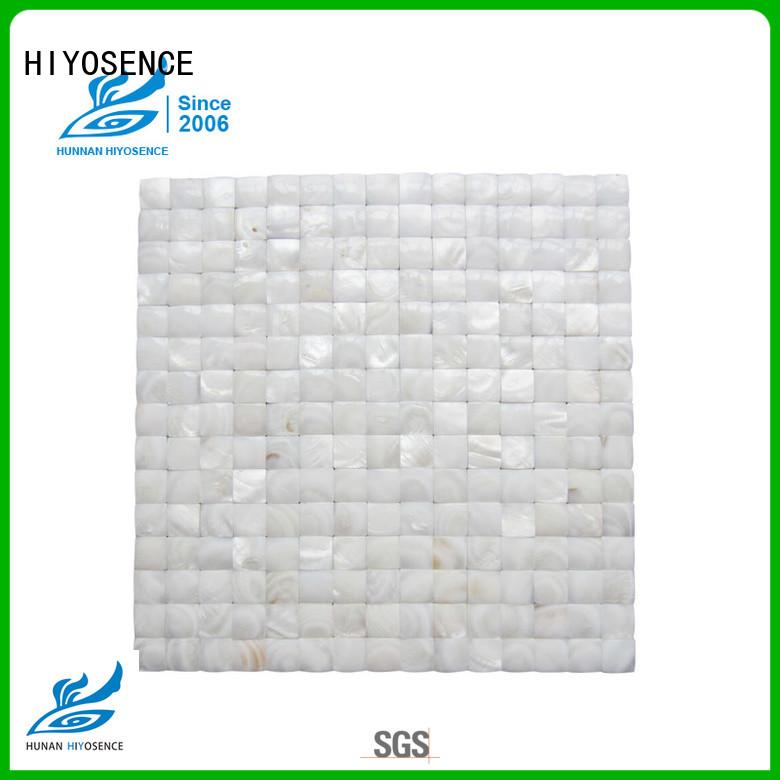 HIYOSENCE high quality pearl glass mosaic tile factory price