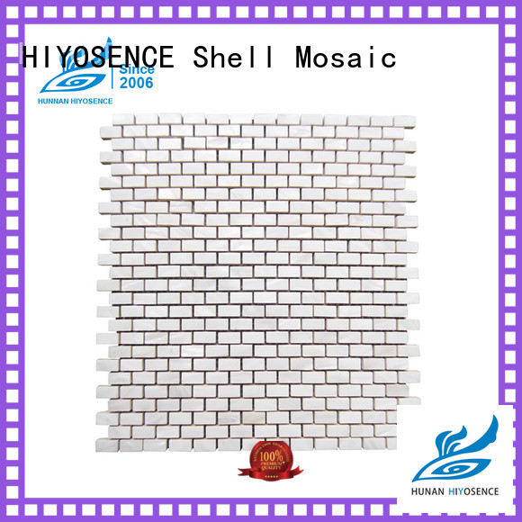 HIYOSENCE mother of pearl splashback with good price for swimming pool