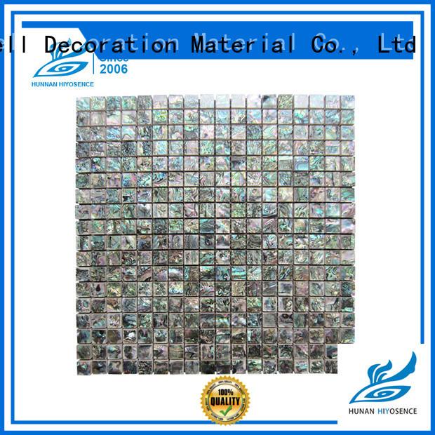 HIYOSENCE pearl white mosaic tiles marketing for decoration