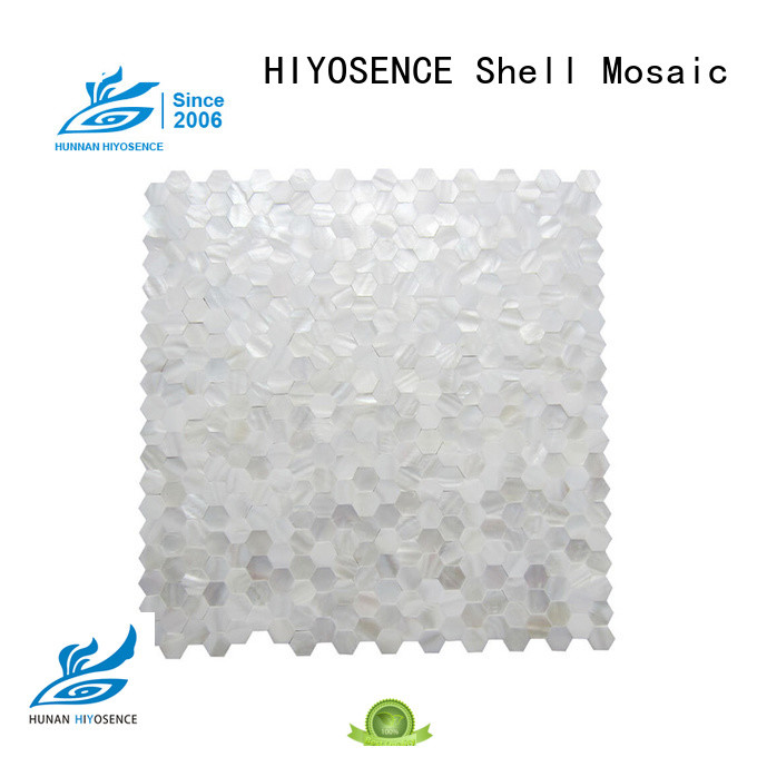 HIYOSENCE mother of pearl penny tile overseas market for swimming pool