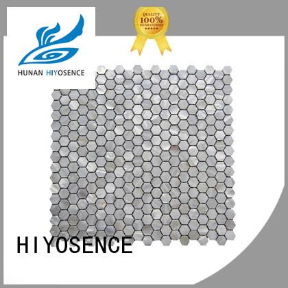 HIYOSENCE high quality pearl shell mosaic tile marketing for living room