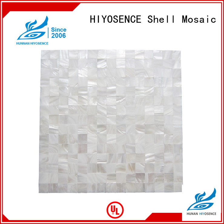 HIYOSENCE Oval mother of pearl tiles factory price for living room