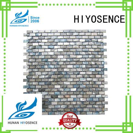 HIYOSENCE mother of pearl herringbone tile marketing for toilet