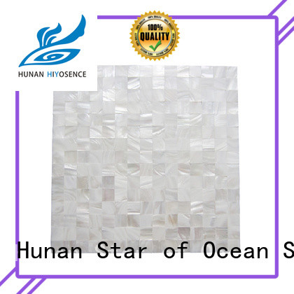 HIYOSENCE advanced technology white pearl shell tile factory price for toilet