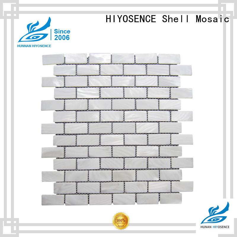 HIYOSENCE natural shell mosaic tile marketing for toilet