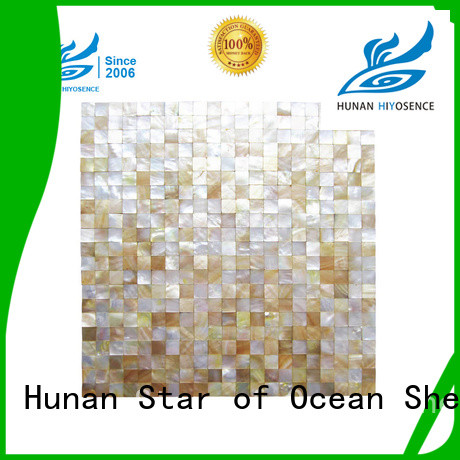 HIYOSENCE durable mother of pearl mosaic bathroom tiles marketing