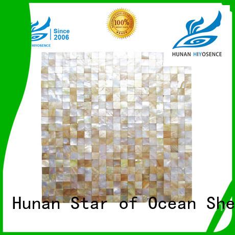 HIYOSENCE durable mother of pearl mosaic bathroom tiles marketing