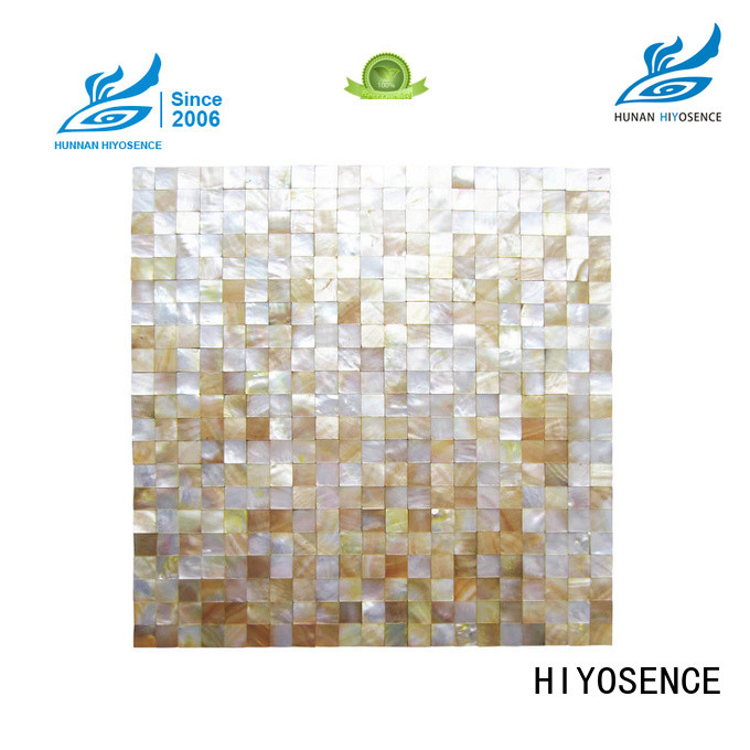 HIYOSENCE stable quality rhombus mother of pearl tiles factory price for living room